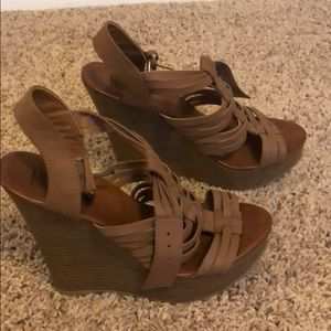 Mix No. 6 Shoes - Brown Wedges